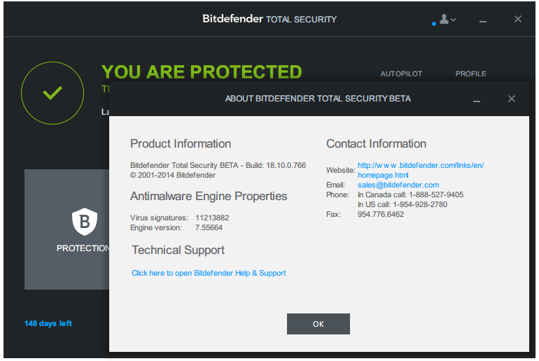 BitDefender Total Security 2018 22.0.15.189