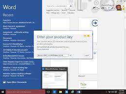 ms office 2016 professional plus product key 2018