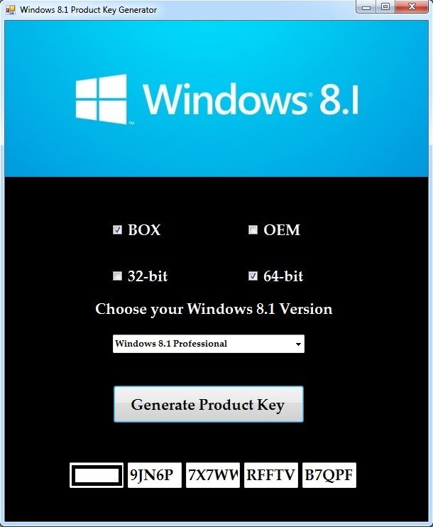 windows 8 product key list