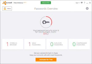 avast antivirus license activation code free