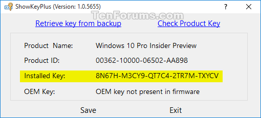 download product key windows 10