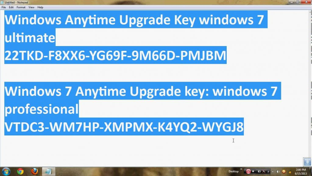 i need a windows 7 activation key