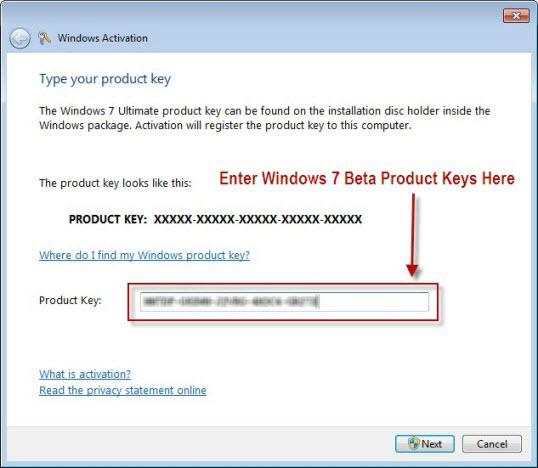 win7 ultimate 32bit product key