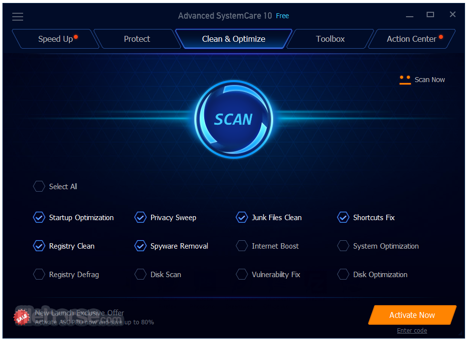 Advanced SystemCare 10.0.3.670 Crack and Key Free
