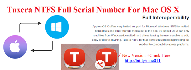Tuxera NTFS 2018 Crack + Product key Full {Latest}