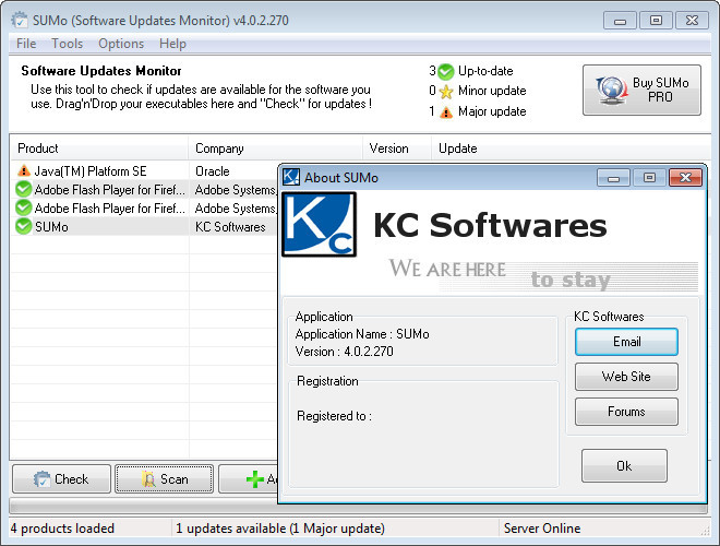 KC Softwares SUMo Pro 5.1.2.352 Activation Code & Crack Full Free Download.