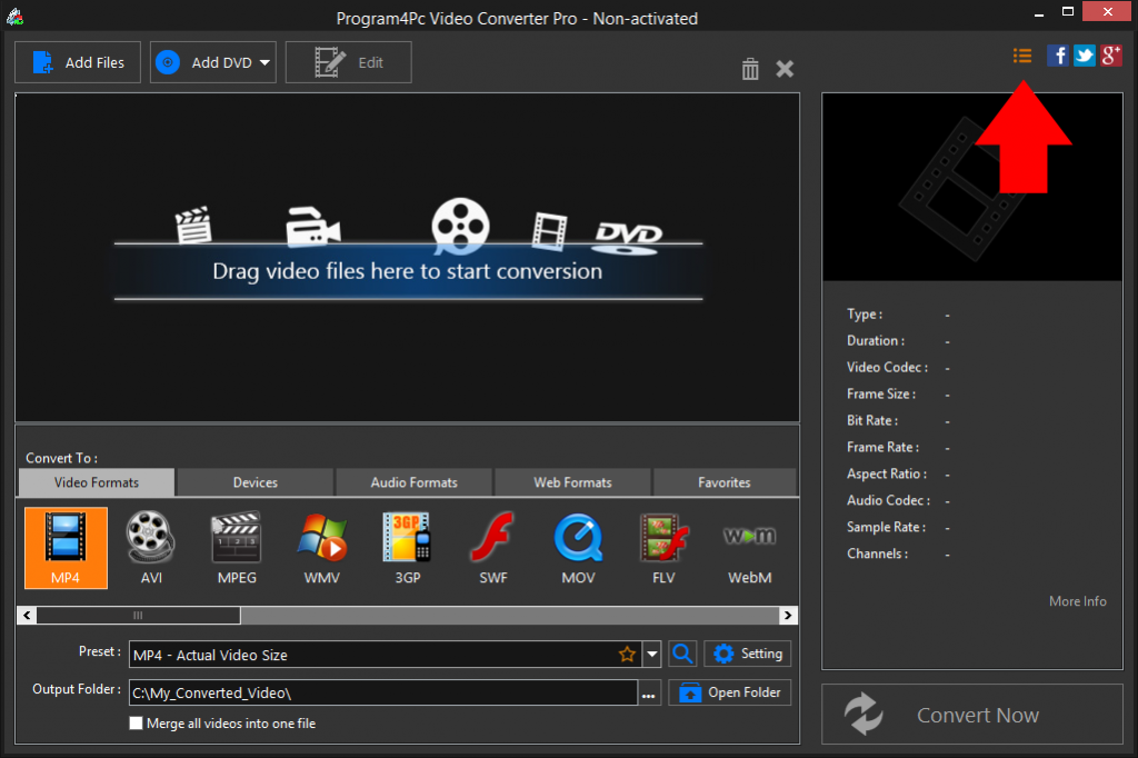 Program4pc Video Converter Pro 9.4.2 Activation Key + Crack Download